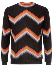 Paul Smith Rainbow Zig Zag Stripe Sweater - Lyst