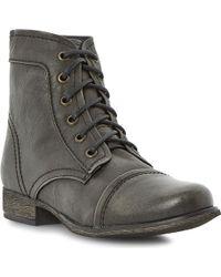 Steve Madden Monch-c Sm Calf-leather Biker Boots - Lyst