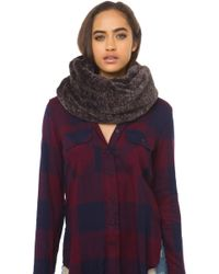 AKIRA - Mix Color Scarf - Brown Mix - Lyst