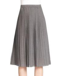 Michael Kors Pleated Midi Skirt - Lyst