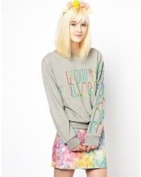 House of Holland Sweat Top - Lyst