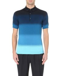 John Smedley Knitted Polo Shirt - For Men - Lyst