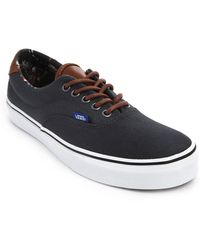 Vans Era 59 Grey Leather And Canvas Sneakers - Lyst