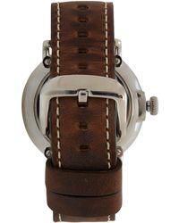 Shinola - Brown Runwell Leather Strap Watch - Lyst