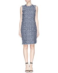 St. John Fringe Lurex Bouclé Knit Dress - Lyst