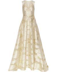 Lela Rose Metallic Fil Coupé Gown - Lyst
