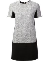 Richard Nicoll Tweed and Jersey Dress - Lyst