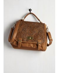 Nug - Be Your Own Emboss Bag In Caramel - Lyst