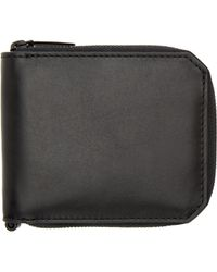 Alexander Wang - Black Leather Zipped Bifold Wallet - Lyst