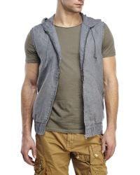 Matiere - Hooded Linen Vest - Lyst
