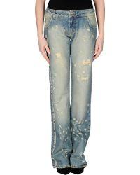 Just Cavalli Denim Trousers blue - Lyst