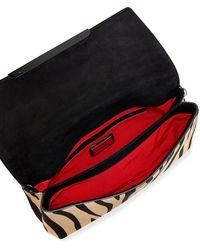 Christian Louboutin Rougissime Tigerprint Calf Hair Clutch Bag - Lyst