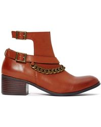 Nasty Gal Shoe Cult Jette Chained Boot - Cognac - Lyst