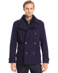 Kenneth Cole Reaction Sweater Bib Peacoat - Lyst