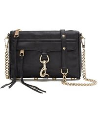 Rebecca Minkoff Mini M.A.C. Crossbody black - Lyst
