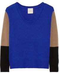 Mason by Michelle Mason Color-Block Wool And Cashmere-Blend Sweater - Lyst