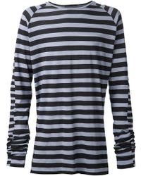 Haider Ackermann Striped T-Shirt - Lyst