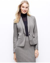 Ann Taylor Doubleface Shawl Collar Jacket - Lyst