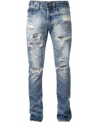 PRPS Ripped Slim Fit Jeans - Lyst