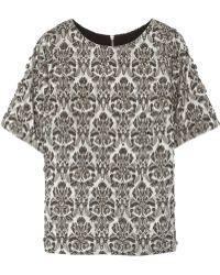 Day Birger Et Mikkelsen Bling Embellished Cotton-blend Jacquard Top - Lyst