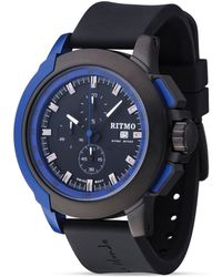 Ritmo Mundo - Quantum Ii Stainless Steel And Blue Aluminum Watch, 50mm - Lyst