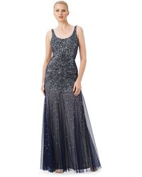 Adrianna Papell Beaded Mermaid Gown - Lyst