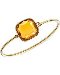 Michael Kors Gold-Tone Citrine Bangle Bracelet - Lyst