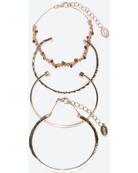 Zara Pack Of Jewelled Bracelets - Lyst