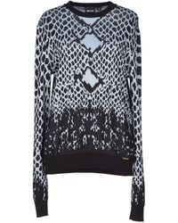 Just Cavalli Blue Jumper - Lyst