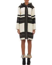 Isabel Marant Stripe Adil Blanket Coat - Lyst