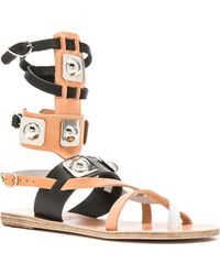 Ancient Greek Sandals | X Peter Pilotto Leather Low Gladiator Sandals | Lyst
