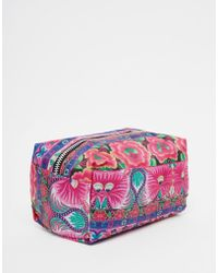 Jaded London - Pink Floral Tapestry Print Make-up Bag - Lyst