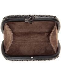 Bottega Veneta Knot Leather Clutch - Lyst