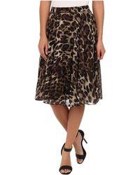 Badgley Mischka Leopard Flare Skirt - Lyst