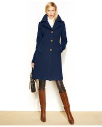 Anne Klein - Petite Wool-Cashmere-Blend Walker Coat - Lyst