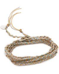 Sogoli | Braided Multi Purpose Wrap - Silver/silver | Lyst