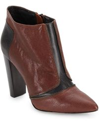 Rebecca Minkoff Dalli Leather Point Toe Ankle Boot - Lyst