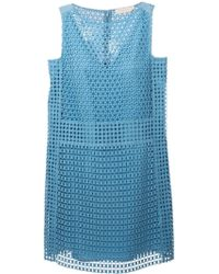 Tory Burch Crocheted Shift Dress - Lyst