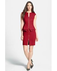 Ted Baker Jamthun Structured Peplum-Waist Dress - Lyst