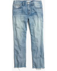 Madewell The Cropped Boyjean In Coltrane Wash - Lyst