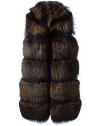 Vicedomini - Long Fox Fur Knit Vest - Lyst
