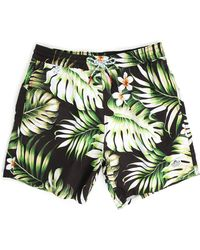 Penfield Palm Seal Swimmer Printed Swim Shorts - Lyst