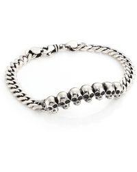 King Baby Studio   Infinity Skull Id Bracelet   Lyst