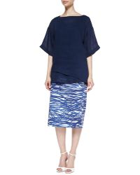 Lafayette 148 New York Dayna River Ripples Pencil Skirt - Lyst