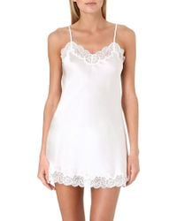 Nk Imode - Lace-Detailed Silk Chemise - Lyst