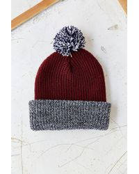 Urban Outfitters Pompom Brushed Beanie - Lyst