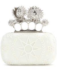 Alexander McQueen Lace Box Clutch - Lyst