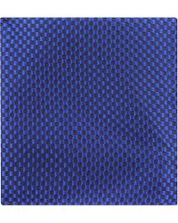 Duchamp Box Stripe Pocket Square Royal - Lyst