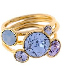 Ted Baker - 'jackie' Crystal Stacking Rings - Pale Blue (set Of 3) - Lyst
