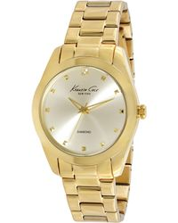 Kenneth Cole Women'S Diamond Accent Gold Ion-Plated Stainless Steel Bracelet 39Mm Kc4949 - Lyst